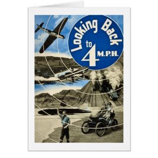 Schauen zurück zu 4 MPH Vintages 1939 Grußkarte