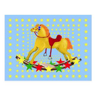Schaukelpferd-Stern-Fahrt Postkarten