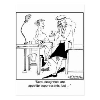 Schaumgummiringe als AppetitSuppressants Postkarte
