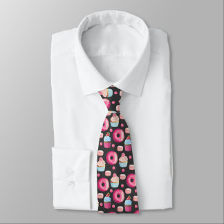 Schaumgummiringe Macarons Kuchen-Muster auf Personalisierte Krawatten