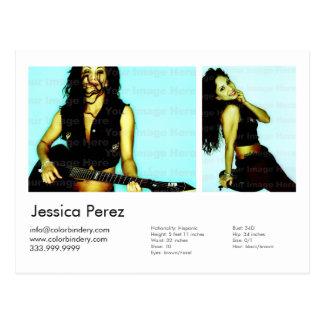 Schauspieler-/des Modell-2 Schussheadshot-Karte Postkarte