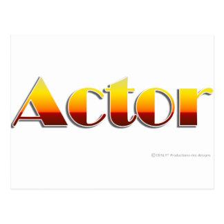 Schauspieler (nur Text) Postkarte