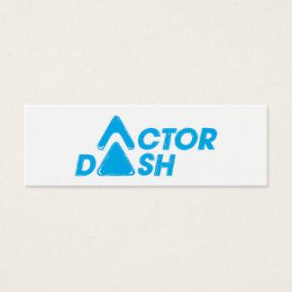 Schauspieler-Schlag Mini Visitenkarte