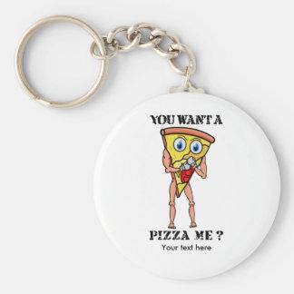 Scheibe der Pizza-tragenden Boxhandschuhe Schlüsselanhänger