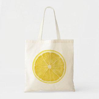 Scheibe der Zitrone Tragetasche