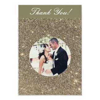 Schein-Hochzeits-Foto danken Ihnen Karten 8,9 X 12,7 Cm Einladungskarte