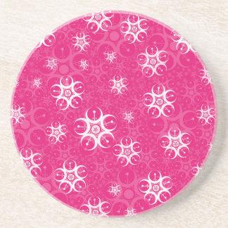 Schein-rosa weiße Ernte-Kreise Untersatz