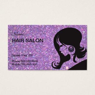 Schein-u. Glitter-Haar-Salon-Geschäfts-Karte Visitenkarten
