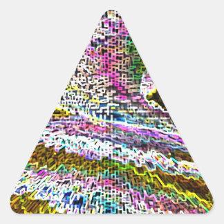 Schein-Wellen Dreieckiger Aufkleber