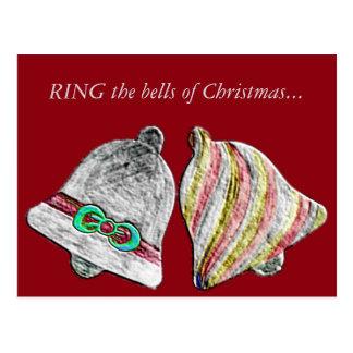 SCHELLEN Sie jenes Weihnachten Bell… Postkarte