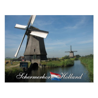Schermerhorn Windmühlen-Holland-Postkarte Postkarte