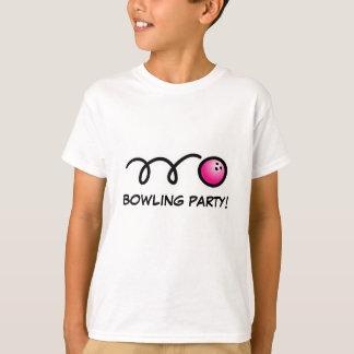 Scherzt Bowlings-Party-Shirts T-Shirt