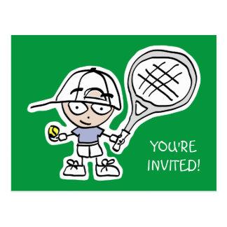Scherzt Tennis Geburtstags-Party Postkarte