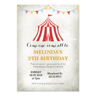 Scherzt Zirkuskarneval Geburtstags-Party 12,7 X 17,8 Cm Einladungskarte