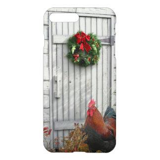 Scheunen-Tür-Weihnachtsschwarz-Kupfer Marans iPhone 8 Plus/7 Plus Hülle