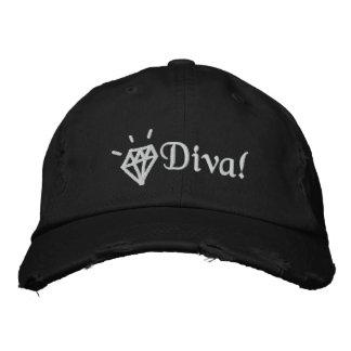 schicke bling gestickte Kappe des Diamanten Diva Besticktes Cap