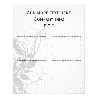 schicke Geschäftsschwarzweiss-kupons 11,4 X 14,2 Cm Flyer