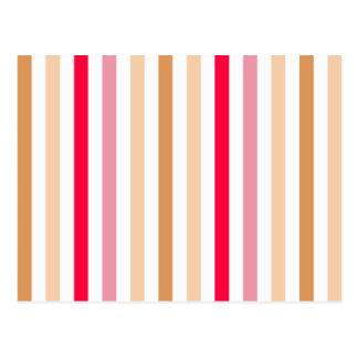 Schicke mehrfarbige Streifen Postkarte