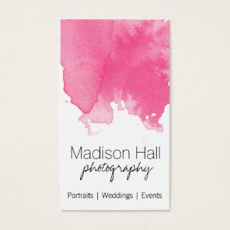 Schicke rosa Aquarell-Visitenkarte Visitenkarten