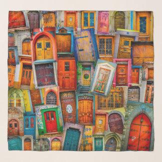 Schicke stilvolle Türen vom Weltbunten modernen Schal