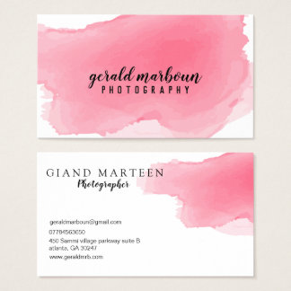 Schicke Wäsche-helle rosa Aquarell-Visitenkarte Visitenkarte