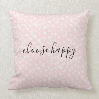Schicke weiße rosa Stellen Kissen