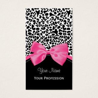 Schicker Mode-Leopard-Druck mit Pink-Band Visitenkarten