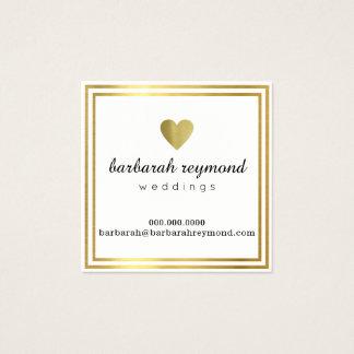 schickes luxe Weiß der Hochzeiten Quadratische Visitenkarte