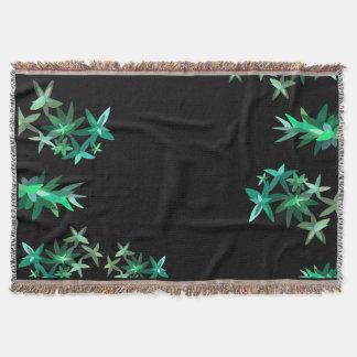 Schickes Minimalistic schwarzer und grüner Decke