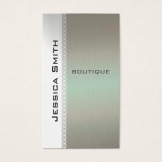 Schickes modernes Luxusspitze metallook Visitenkarten