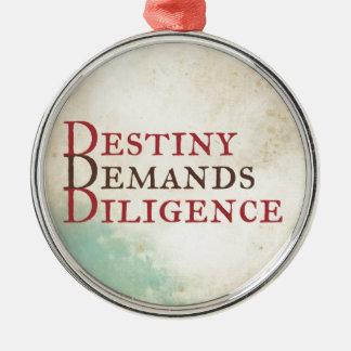 Schicksal Silbernes Ornament