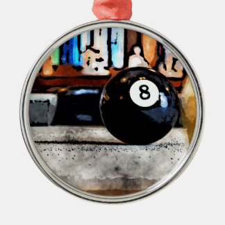 Schießen für den Ball acht Silbernes Ornament