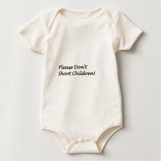 Schießen Sie nicht Baby Strampler