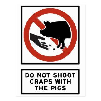 Schießen Sie nicht Misten mit dem Postkarte