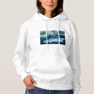 Schiff im Meer im Sturm Hoodie