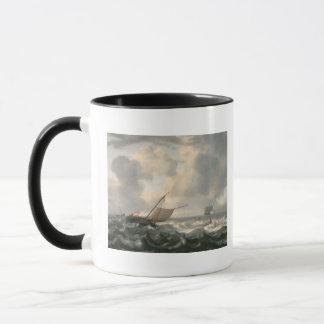 Schiffe auf einem Choppy Meer Tasse
