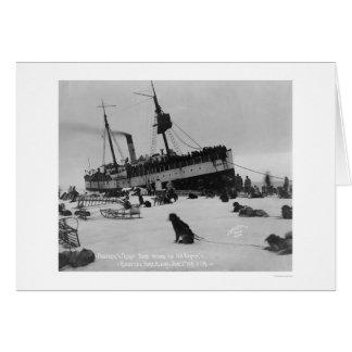 Schiffs-Ankunft Nome, Alaska 1914 Karte