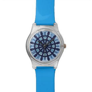 Schiffs-Helm-hölzerner Rad-blauer Seeseemann-alte Armbanduhr