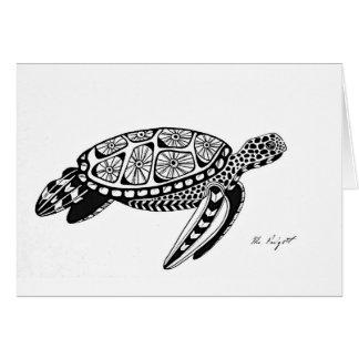 Schildkröte-12x18 herein. Faltende Gruß-Karte Karte