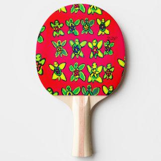 Schildkröte-Blumenkunst Tischtennis Schläger