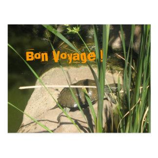 Schildkröte Bon Voyage ! Postkarte
