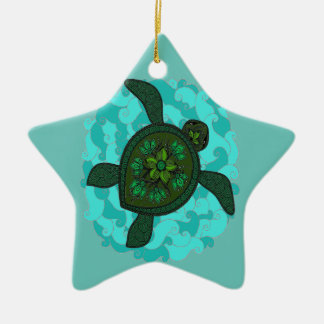 Schildkröte Keramik Stern-Ornament
