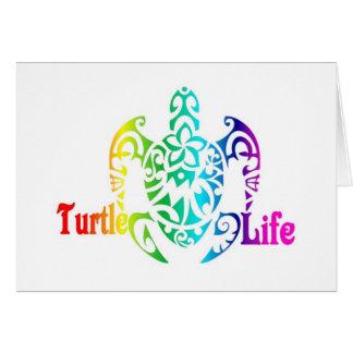 Schildkröte-Leben Karte