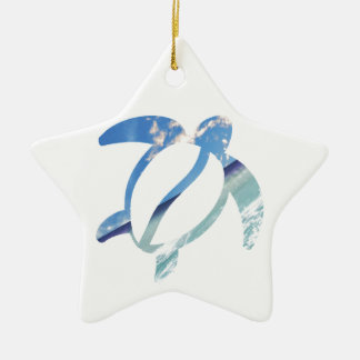 Schildkröte-Meer-Himmel Keramik Stern-Ornament