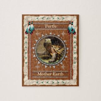 Schildkröte - Mutter-Erdpuzzle mit Kasten Puzzle
