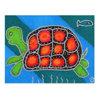 Schildkröte Super Postkarte