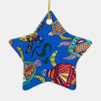 Schildkröte-Zeit Keramik Ornament