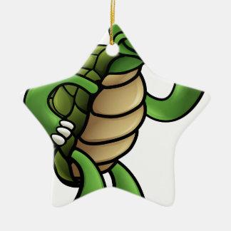 Schildkröten-Cartoon-Charakter Keramik Stern-Ornament