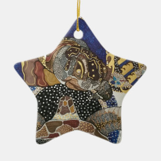 Schildkröten um Mitternacht Keramik Ornament