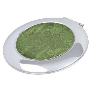 Schimmer-Einbrennen-Grün--Faux* Taschenspiegel